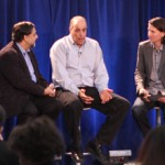Autodesk CEO Carl Bass talks to Singularity University (SU) VP of Innovation & Academics Vivek Wadhwa and SU CEO Rob Nail