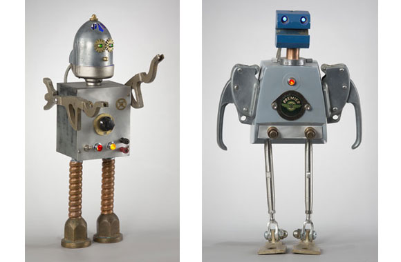 Scrap Metal Reborn As Awesome Sci-Fi Robots By Passionate Math Professor