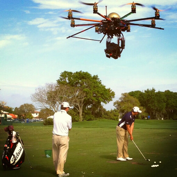 golf channel drone camera