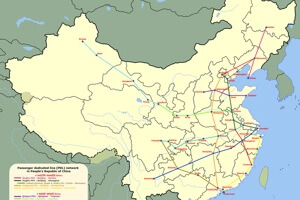 China's high-speed passenger line already connects most of the country's major cities. [Source: Wikipedia]