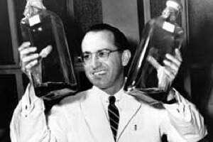 Jonas Salk's vaccine, introduced in 1955, eradicated polio, then thought the most frightening health problem. [Source: Wikipedia]