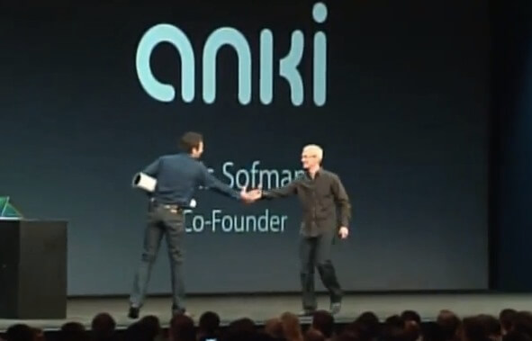Anki CEO Boris Sofman at WWDC With Apple CEO Tim Cook