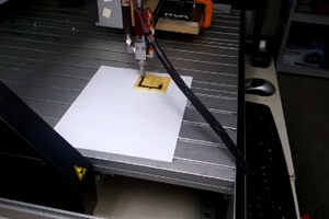 As a first step, Contractor has already created a printer that can print chocolate onto a cookie. [Source: Anjan Contractor via YouTube]