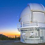 The Automated Planet Finder Telescope dome shortly after sunset.