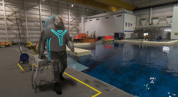 NASA will begin testing Z-2 this November in a vacuum chamber, a site mimicking the Martian surface, and Johnson Space Center's Neutral Buoyancy Lab—an enormous indoor pool where astronauts train for space walks.