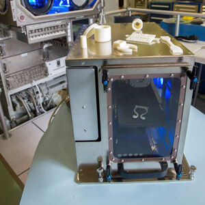 Made In Space 3D printer and 3D printed tools.