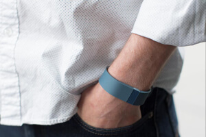 Most wearable devices, like FitBit, go on your wrist.