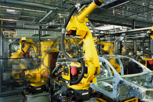 Factory robots still require precisely programmed conditions to work well.