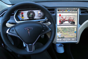 Tesla digital display.