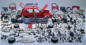 Modern cars are a mess of parts. That may change--lowering today's formidable barriers to entry.