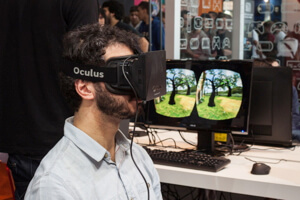 Through the looking glass with an Oculus Rift.