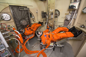 Orion space suit testing.
