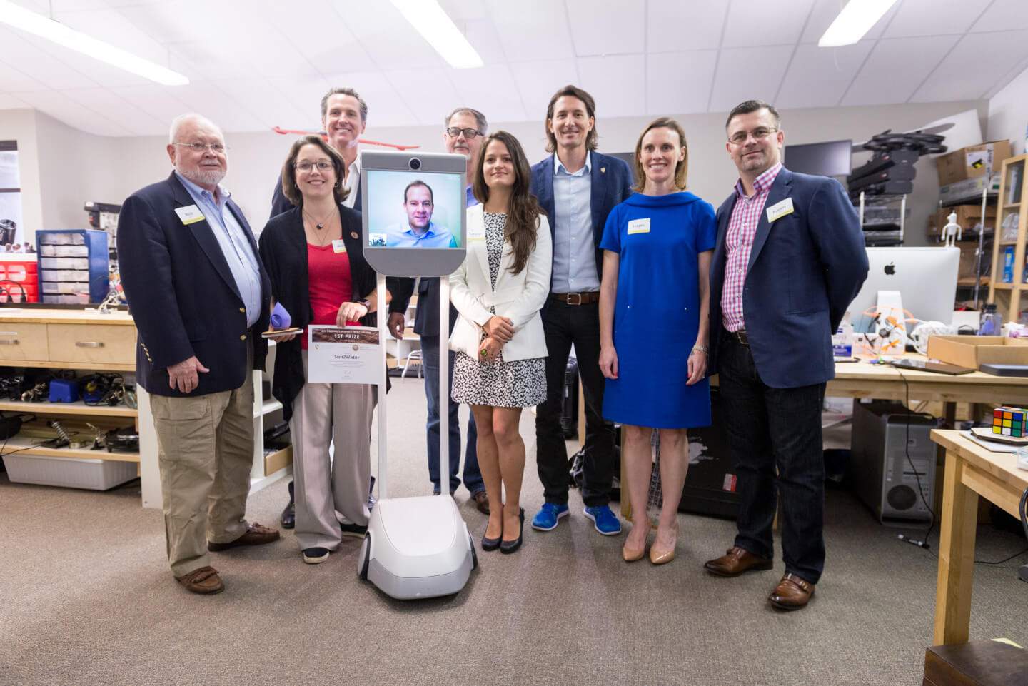 The 2015 Singularity University Impact Challenge winners.