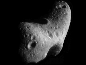 NASA snapped this close-up image of near-Earth asteroid Eros in 2000. (Credit: NASA/JHUAPL)