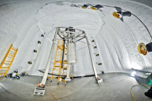 LUX detector: 4,850 ft underground inside a 70,000 gallon water tank shield. (Credit: