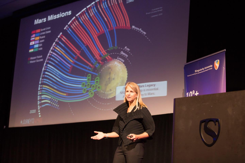 Keynote speaker Dr. Dava Newman, deputy administrator of NASA.