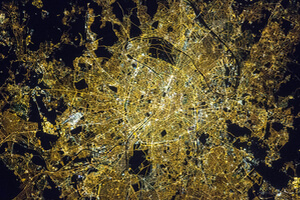 Paris from space. Image credit: NASA