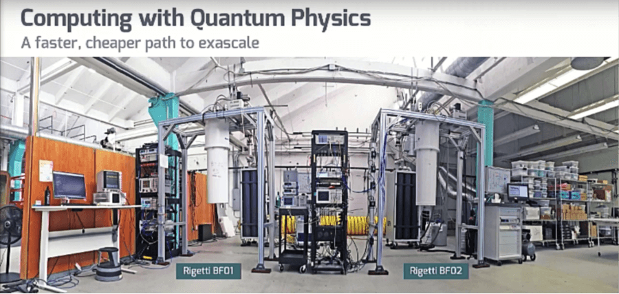 Developmental quantum computing systems. Image credit: Rigetti Computing