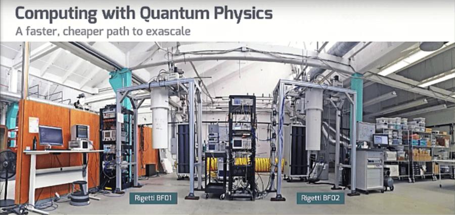 Developmental quantum computing systems. Image credit: Rigetti Computing