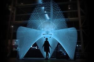 3D printed Daedalus pavilion. Image credit: Ai Build