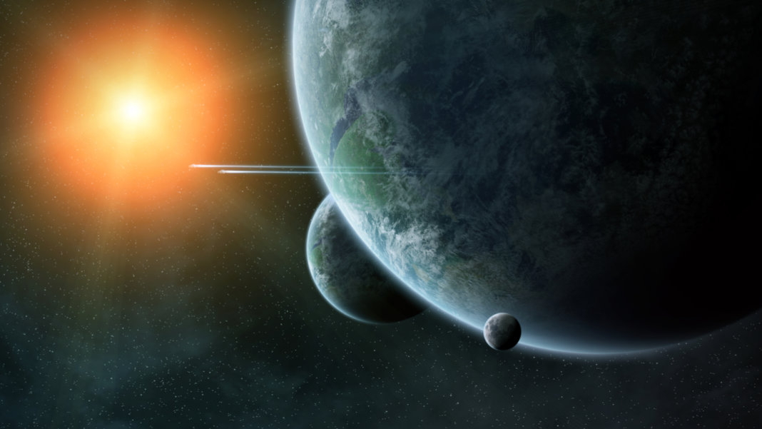 Planets-orbiting-sun-space-exoplanets