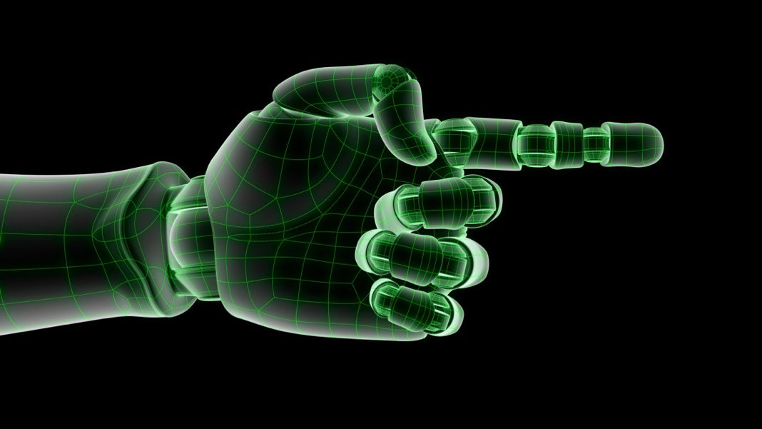 isolated-wired-robotic-hand-3d-render