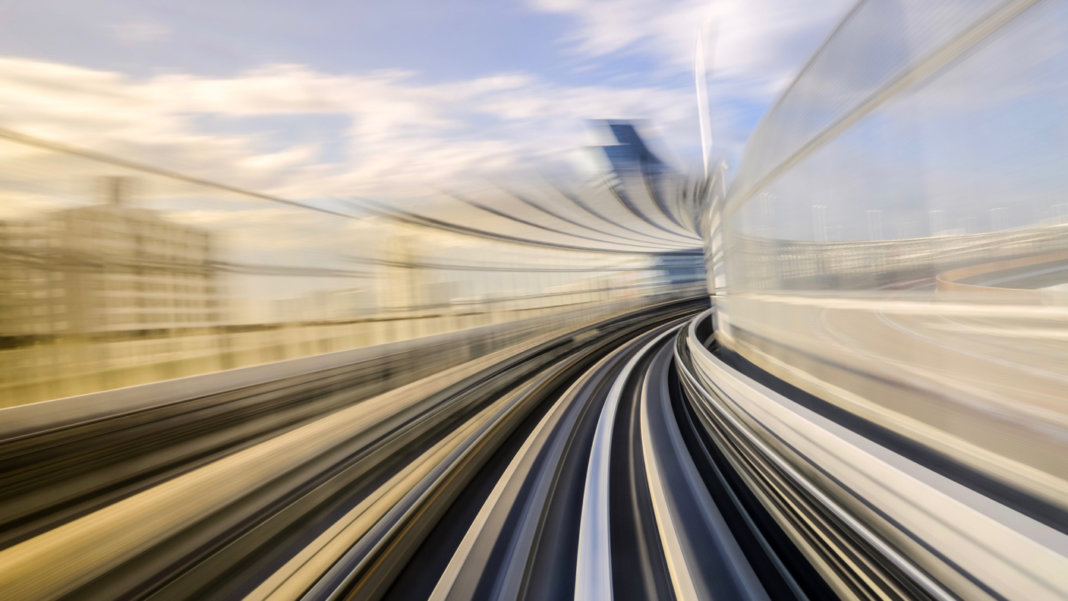 motion-blur-High-speed-technology-monorail-train