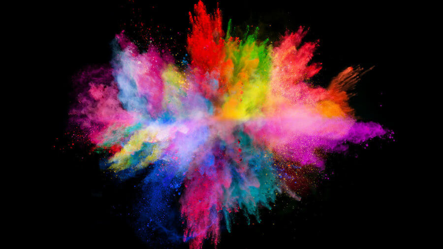 creativity-explosion-colored-powder-black