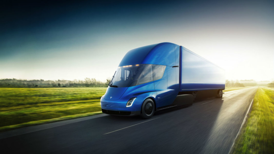 Tesla-Semi-driving-front-blue