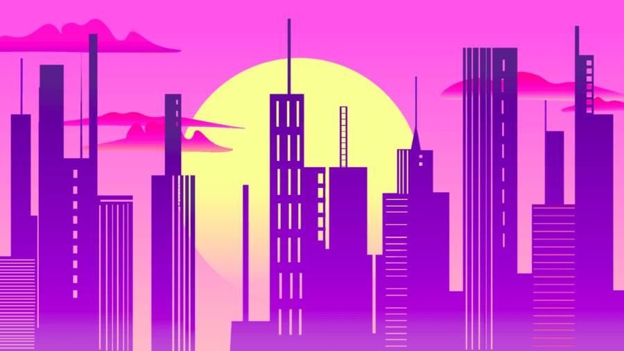 artificial-intelligence-retro-wave-evening-city-713727409