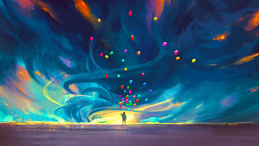 illustration-child-holding-balloons-standing-front-fantasy-painting
