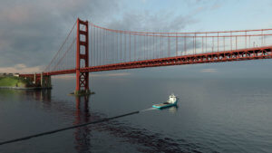 The-Ocean-Cleanup-Tow-out-Golden-Gate-bridge-San-Francisco