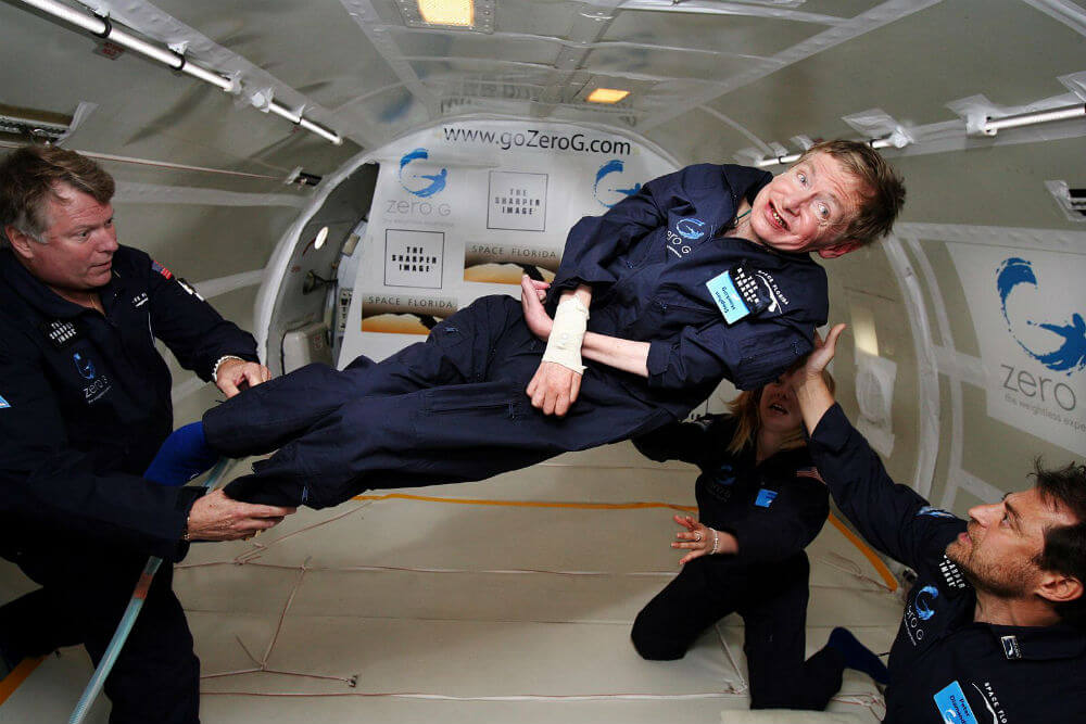 Stephen-Hawking-zero-gravity-floating-space-Peter-Diamandis