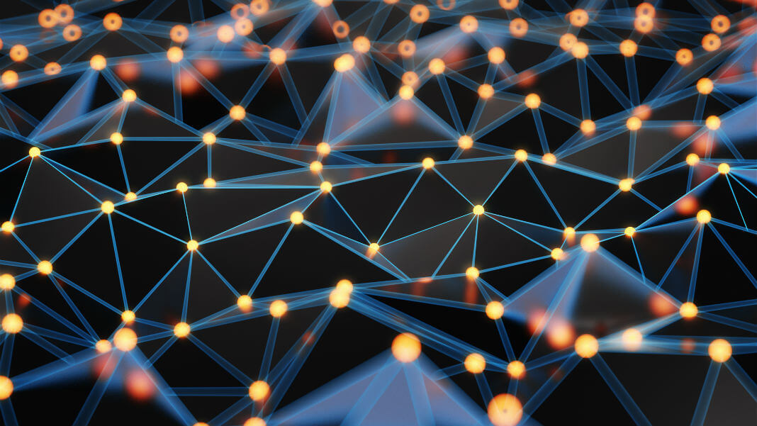 Organizations Embrace Innovation Digital Health Particle Background Mesh Network Futuristic