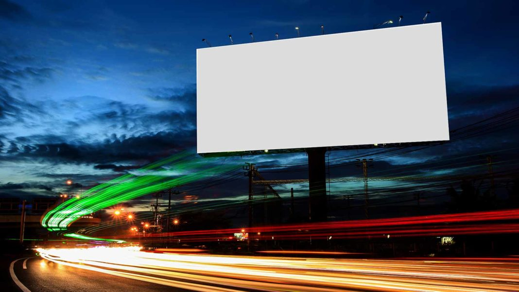 blank outdoor billboard advertising
