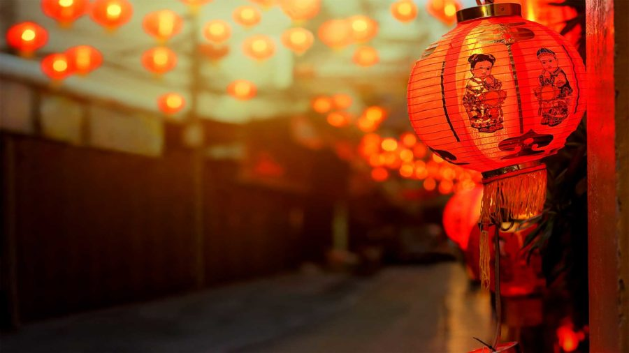 China Chinese New Year lanterns