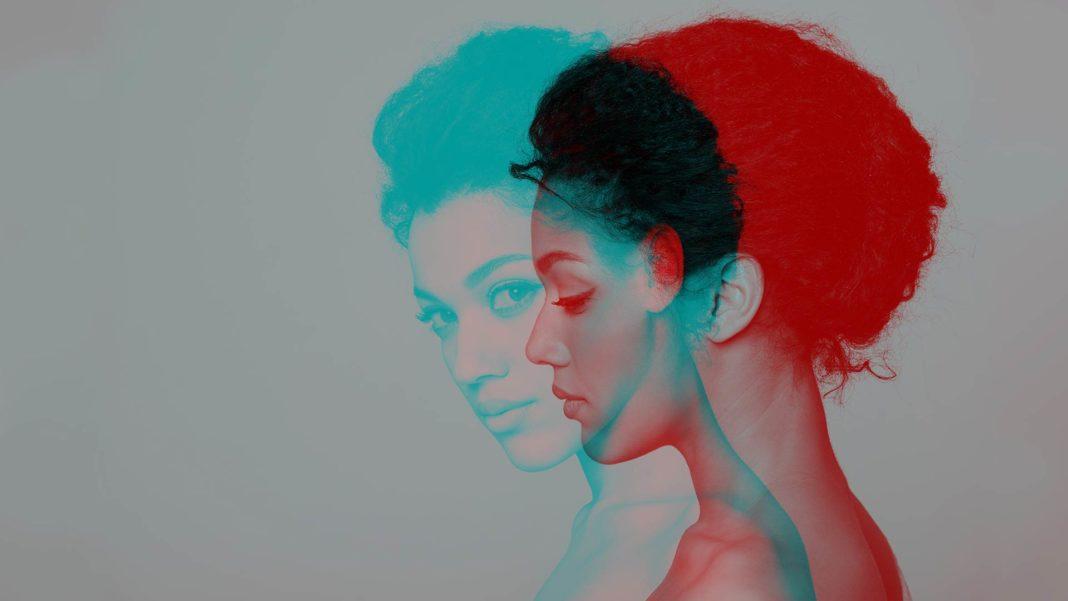 double color exposure effect beauty closeup