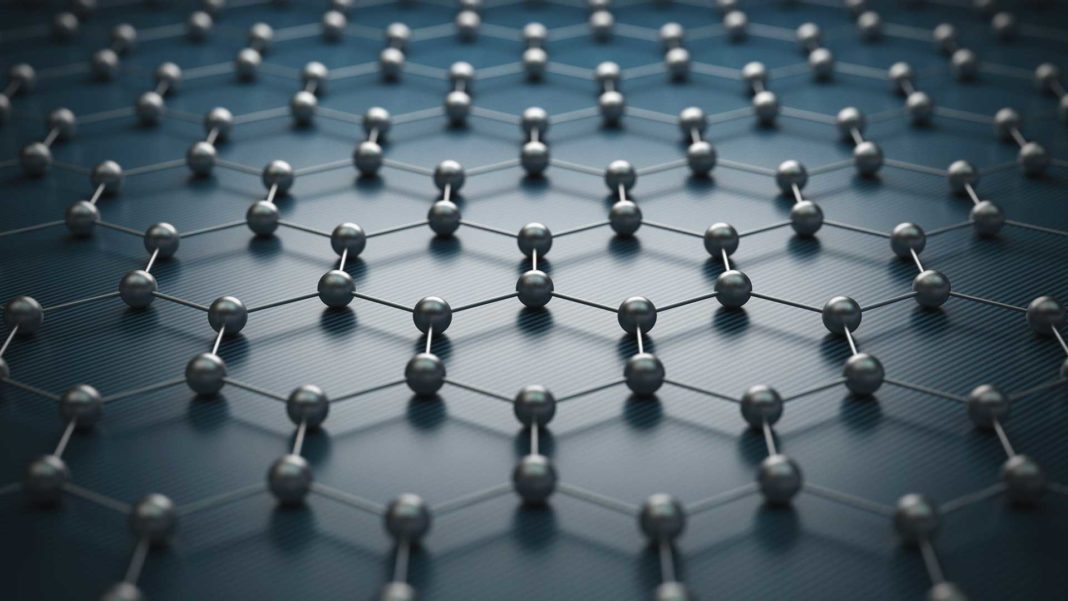 graphene molecular grid atomic structure
