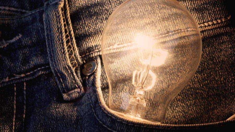 startup lamp concept idea