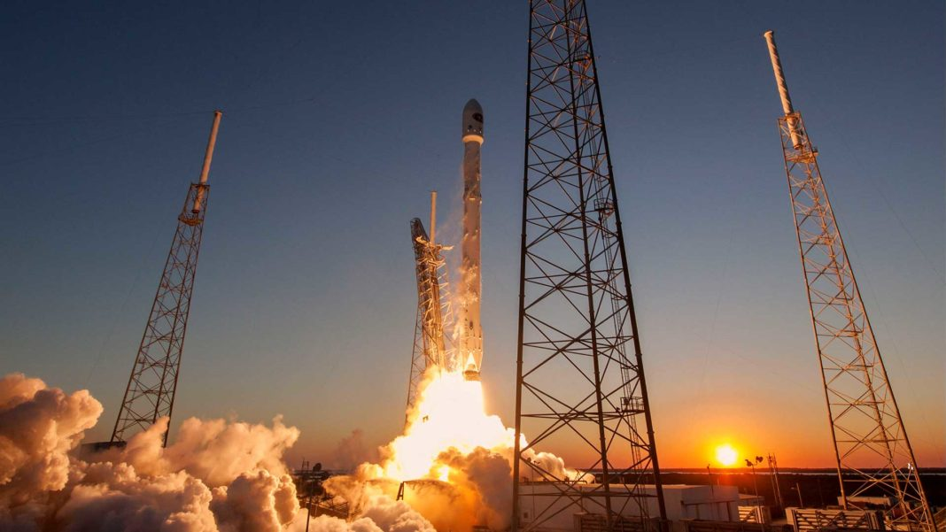 Falcon 9 liftoff carrying DSCOVR satellite