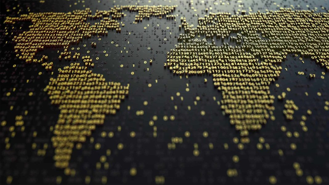 World map numbers global finance