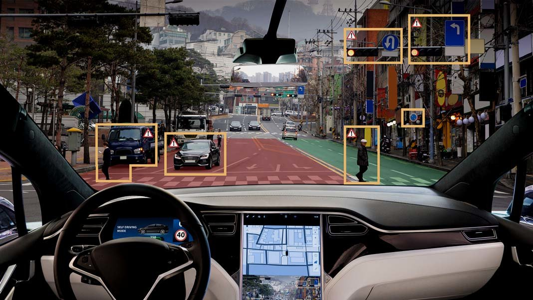 autonomous car self driving algorithm display