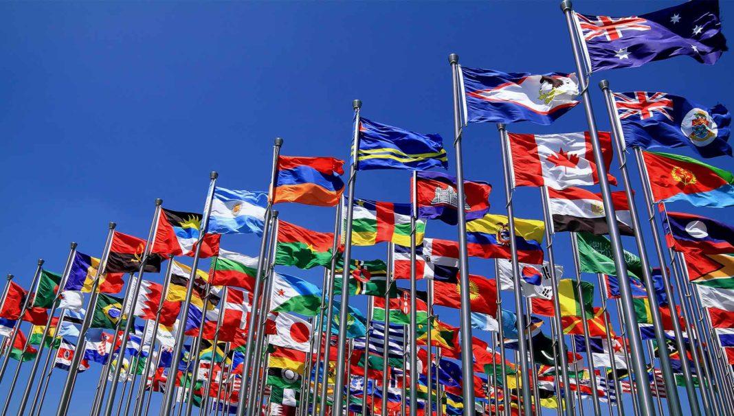 British Commonwealth world national flags