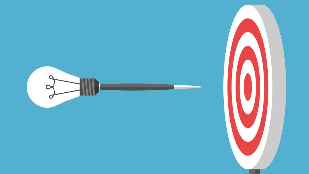 lightbulb dart flying target