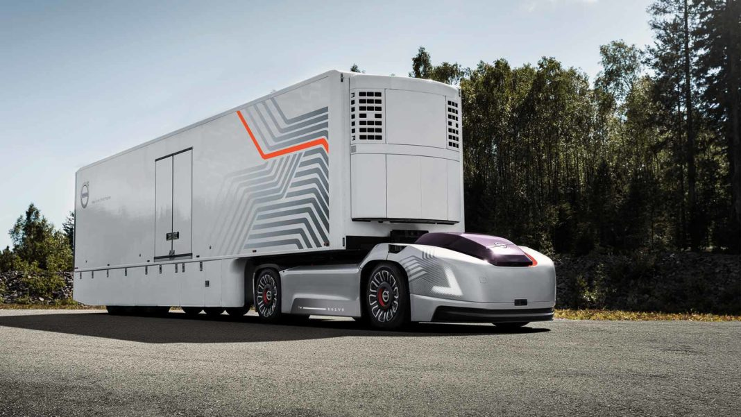 Autonomous Volvo Truck On Road