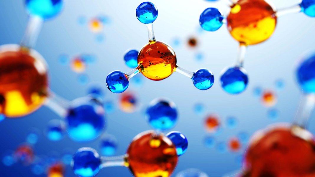 3D illustration molecule model medical science
