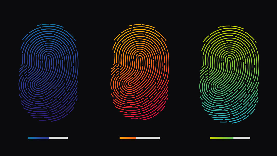 colorful digital fingerprints illustration