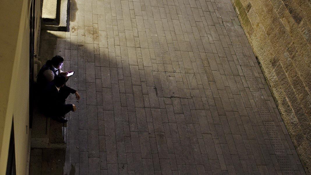 Man and woman Waiting Hong Kong China 2018