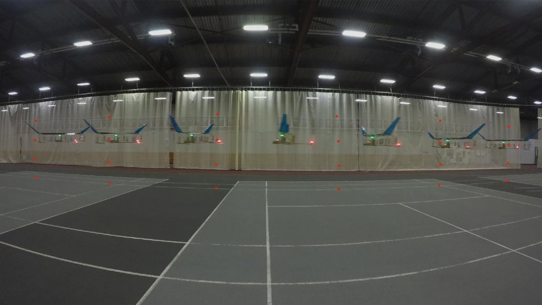 Steven Barrett MIT aeroplane flight in gym timelapse