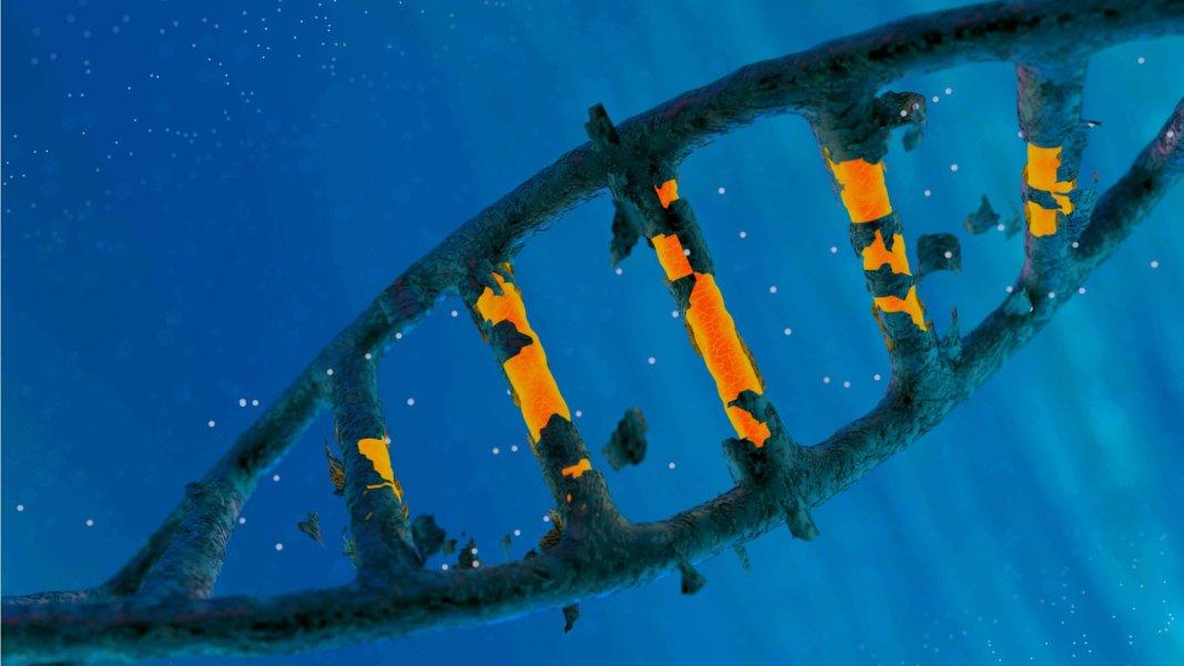 dna helix strand gene edit